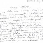 LETTERA DEL DISEGNATORE STORICO FERRI GALLIENO