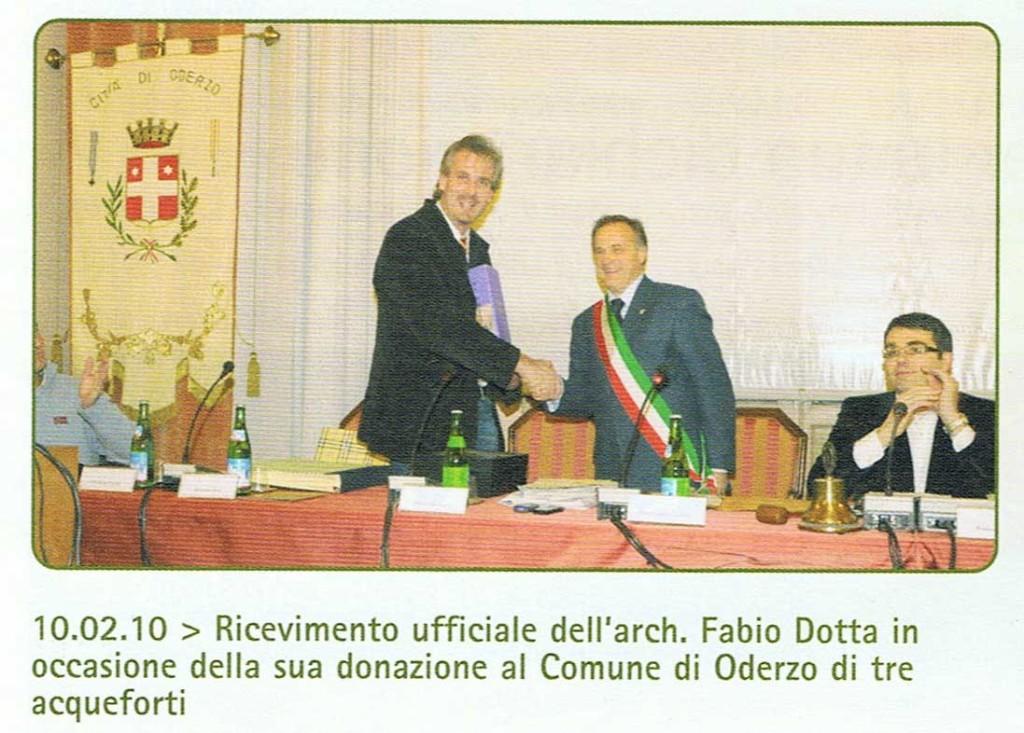 2010 CON IL SINDACO PIETRO DALLA LIBERA