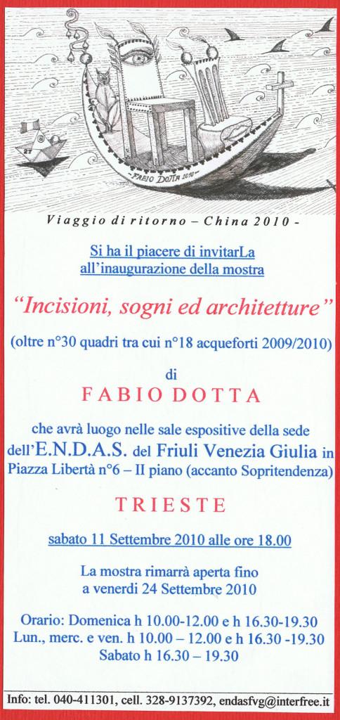 INVITO MOSTRA DEL 2010 ALL'ENDAS FVG