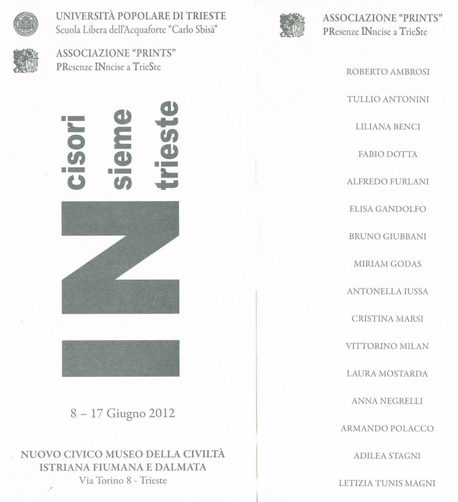 "INCISORI INSIEME MUSEO ""ISTRIANO"" DI TRIESTE"