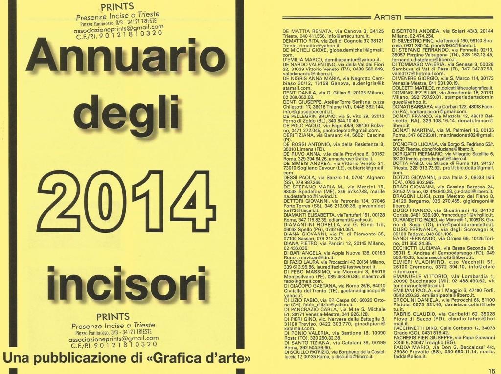 2014_ANNUARIO DEGLI INCISORI