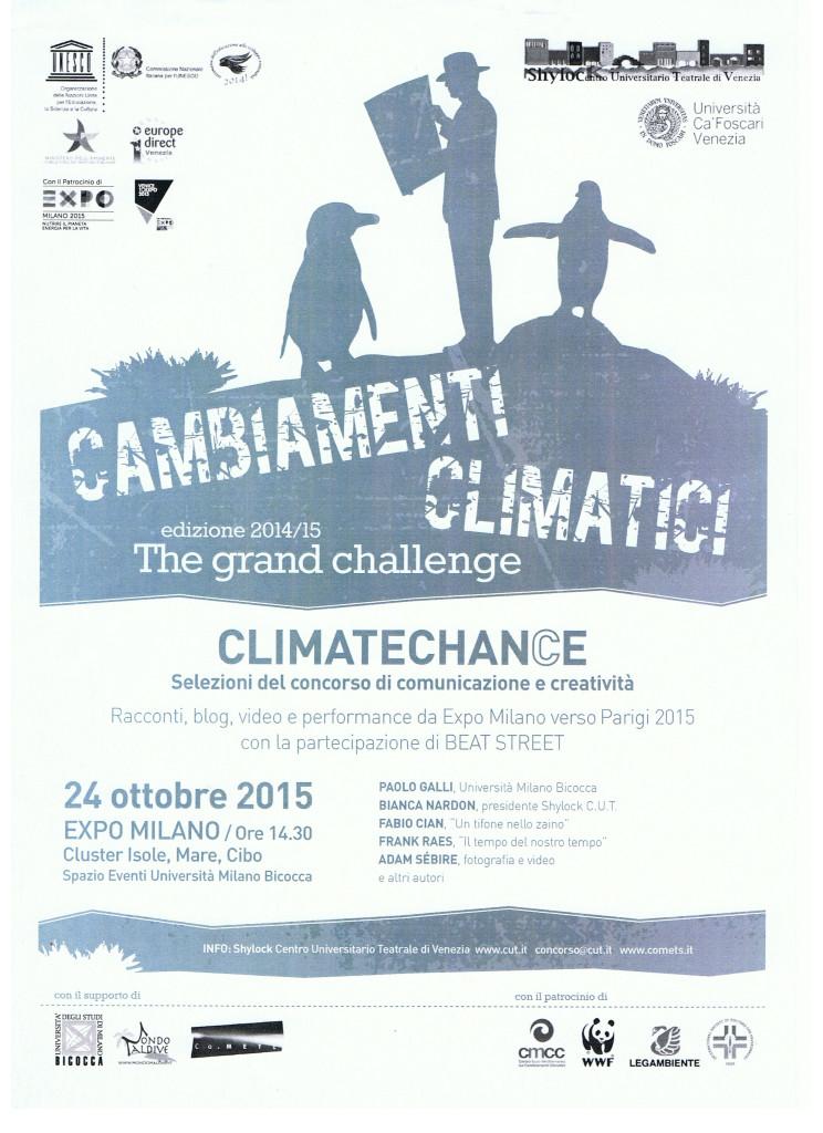 2015 PREMIAZIONE EXPO MILANO CONCORSO CAMBIAMENTI CLIMATICI