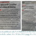 """2015 ARTICOLI SUL VIDEO """"IL BOSCO DI CAVALIER"""""""