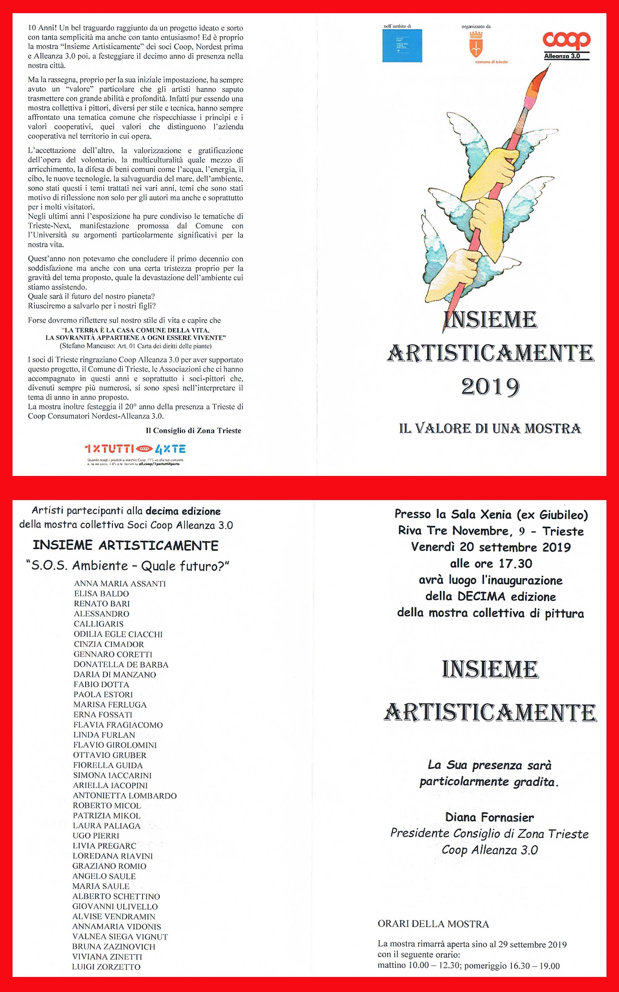 MOSTRA D'ARTE A TRIESTE SETTEMBRE 2019
