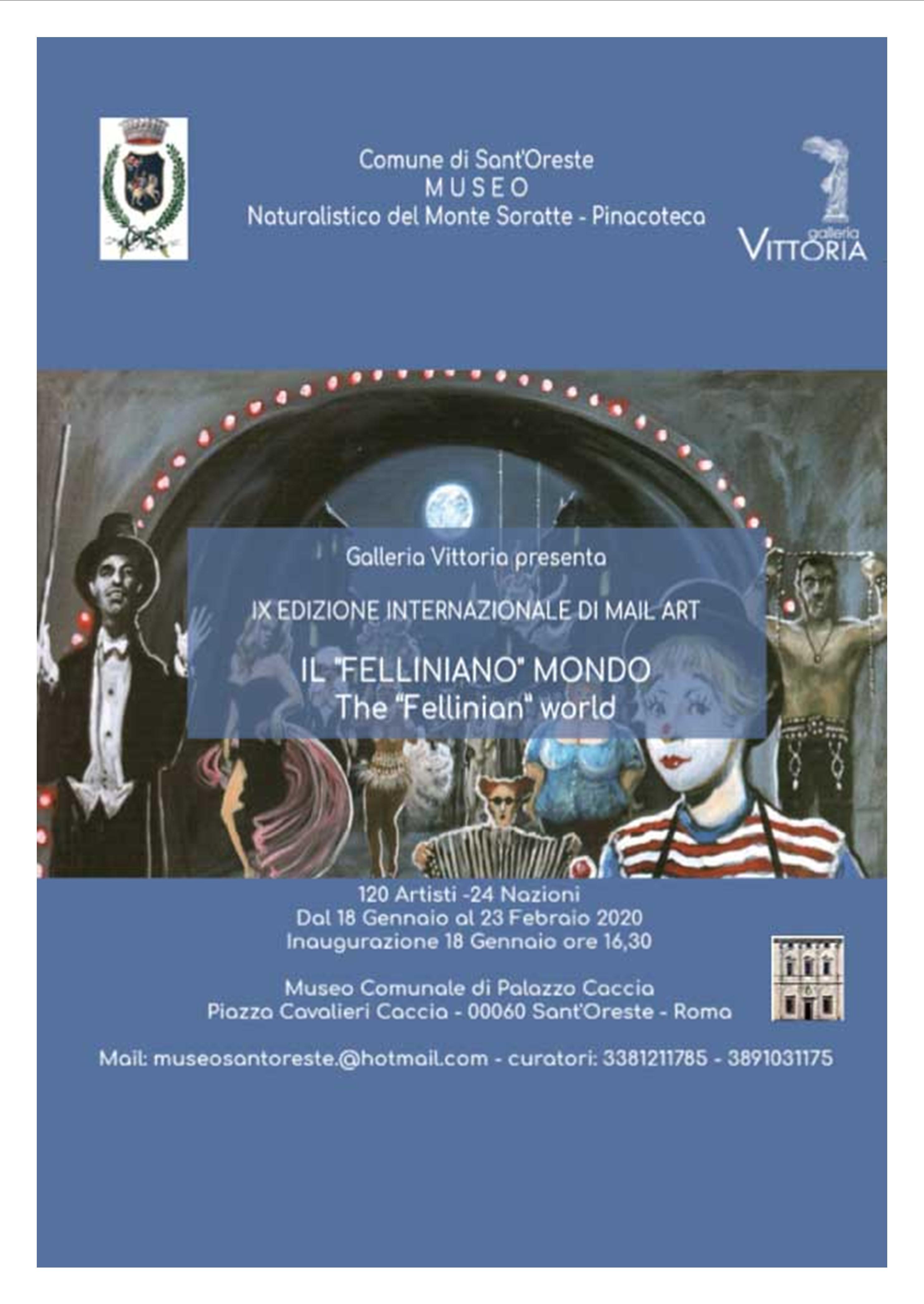 Mostra a ROMA dedicata a FEDERICO FELLINI 2020